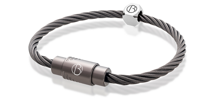 Graphite CABLE™ stainless steel bracelet